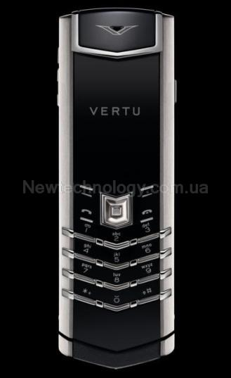 Телефон Vertu Signature S Design Stainless Steel black leather