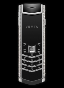 Телефон VERTU Signature S Design White Gold Diamonds