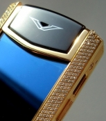 Телефон VERTU Signature S Design Yellow Gold Diamonds