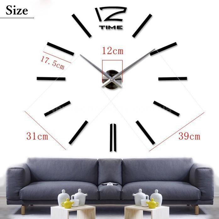 ... Настенные часы Design Big Silver - Ну очень большие интересные настенные  часы хай тек размером больше ... 7bab9804a2a6d