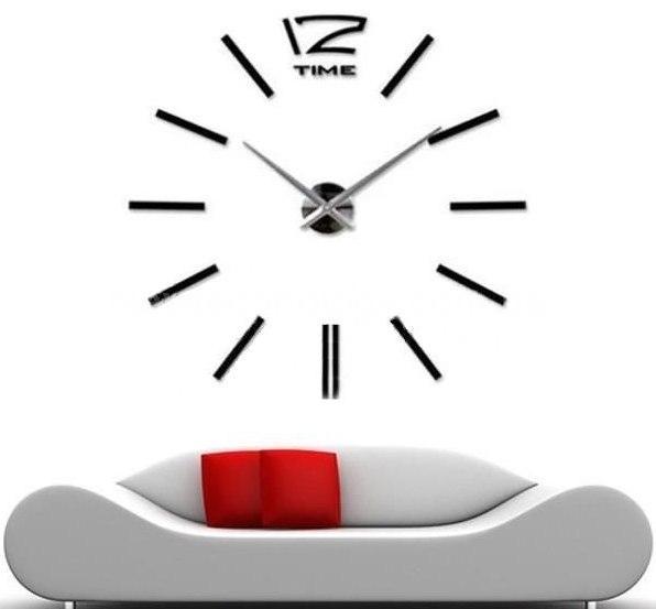Современные большие часы для разных стен фото