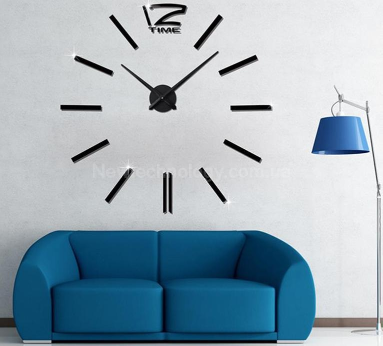 Стильные большие настенные дизайнерские часы на стену - фото