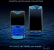 Модные телефоны Vertu Constellation Touch Blue и Quest Blue